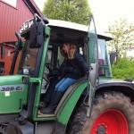 So ein Traktor ist hoch!