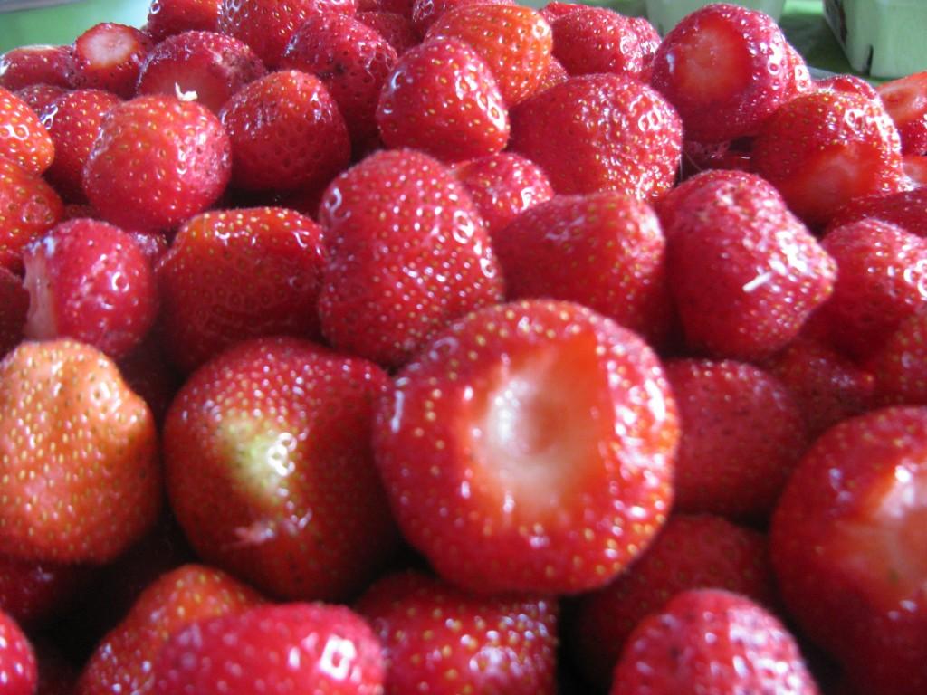 Erdbeeren - die Grundlage unserer leckeren Milchshakes